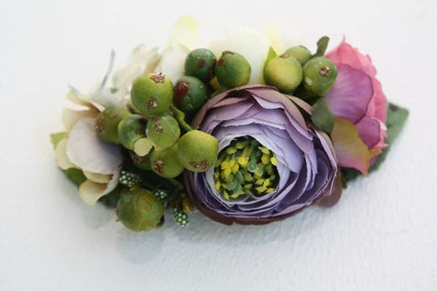 Flower Hair Clips Green Berries - Vasylchenko1