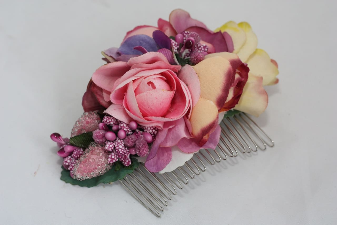 "Flower hair slide ""Spring Victoria"" - 1"