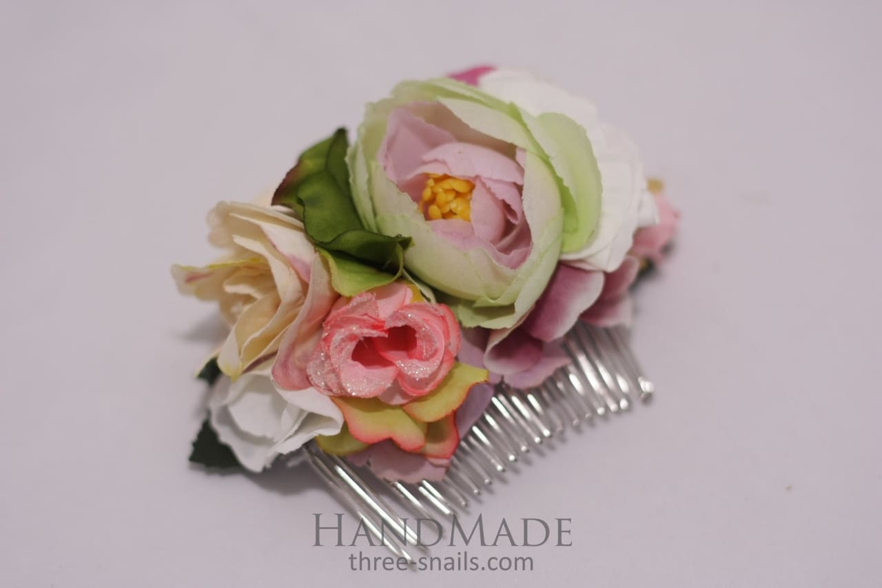 Flower Hair Slide Vanilla Shades - Melnichenko1