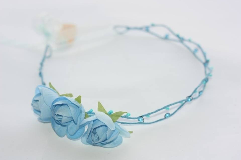 Flower Headband Blue Flowers - Melnichenko1