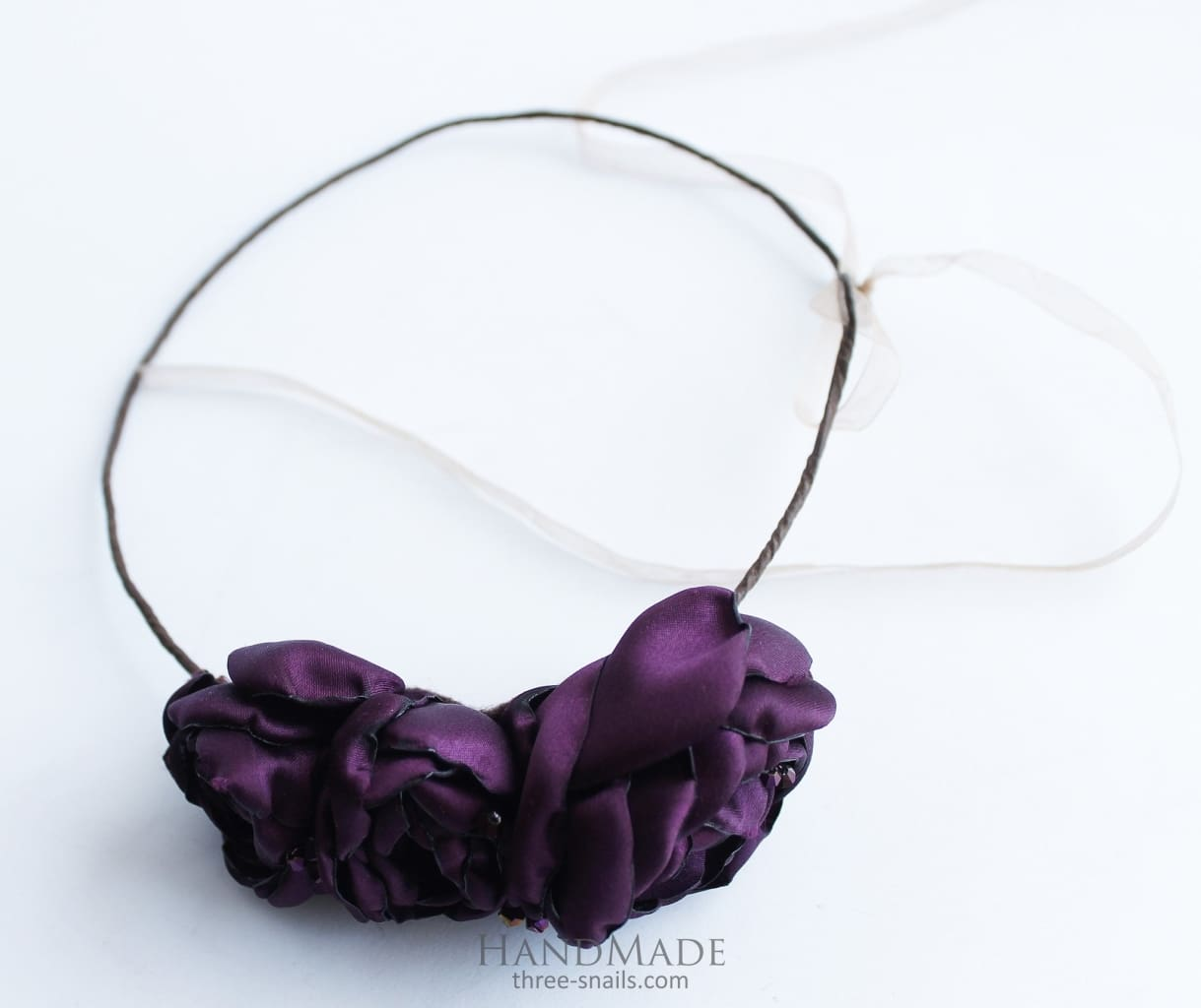 Flower Headband Purple Roses - Vasylchenko1