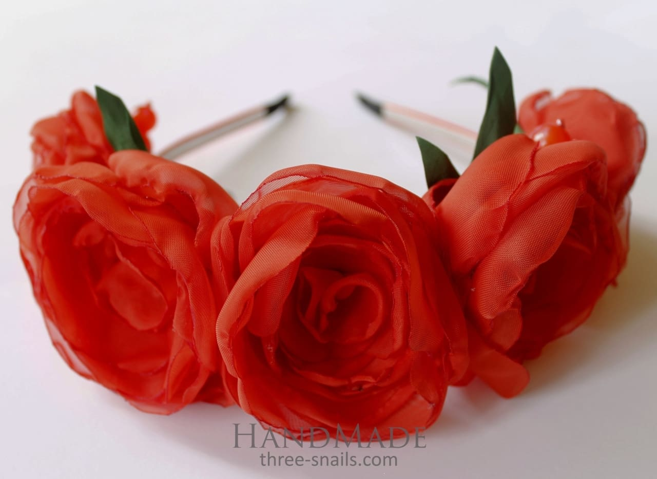 Flower Headbands Passionate Love - Melnichenko1