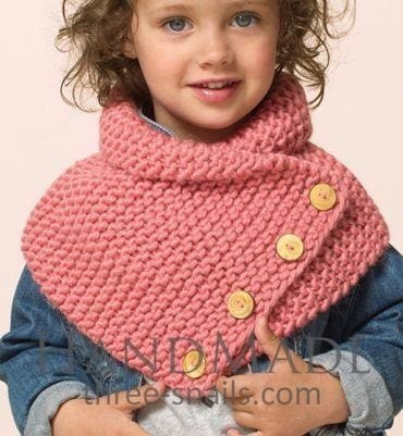 Girl Pink Knitted Collar - Baby Clothes