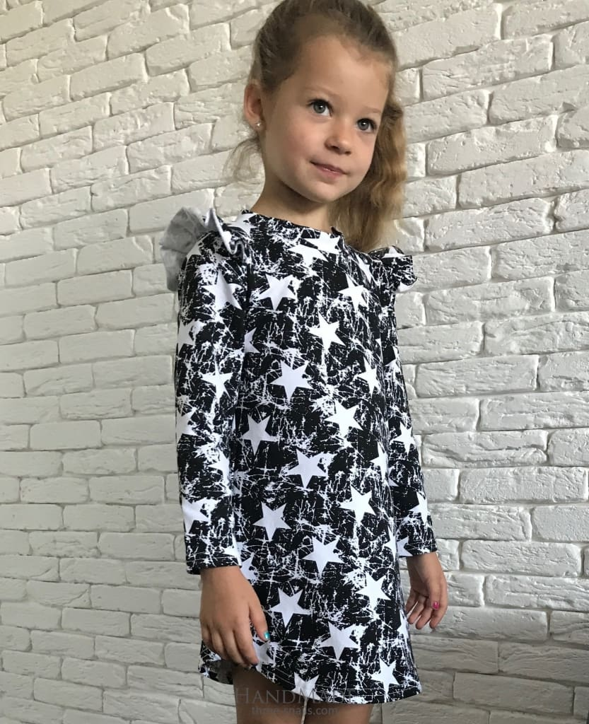 Girls Dress With Stars - Baby Clothes