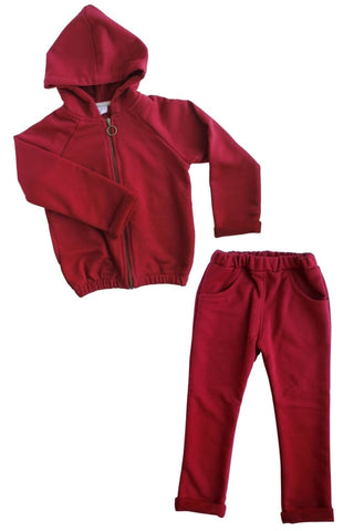 Girls Sportswear Vinous Style  - Baby Clothes