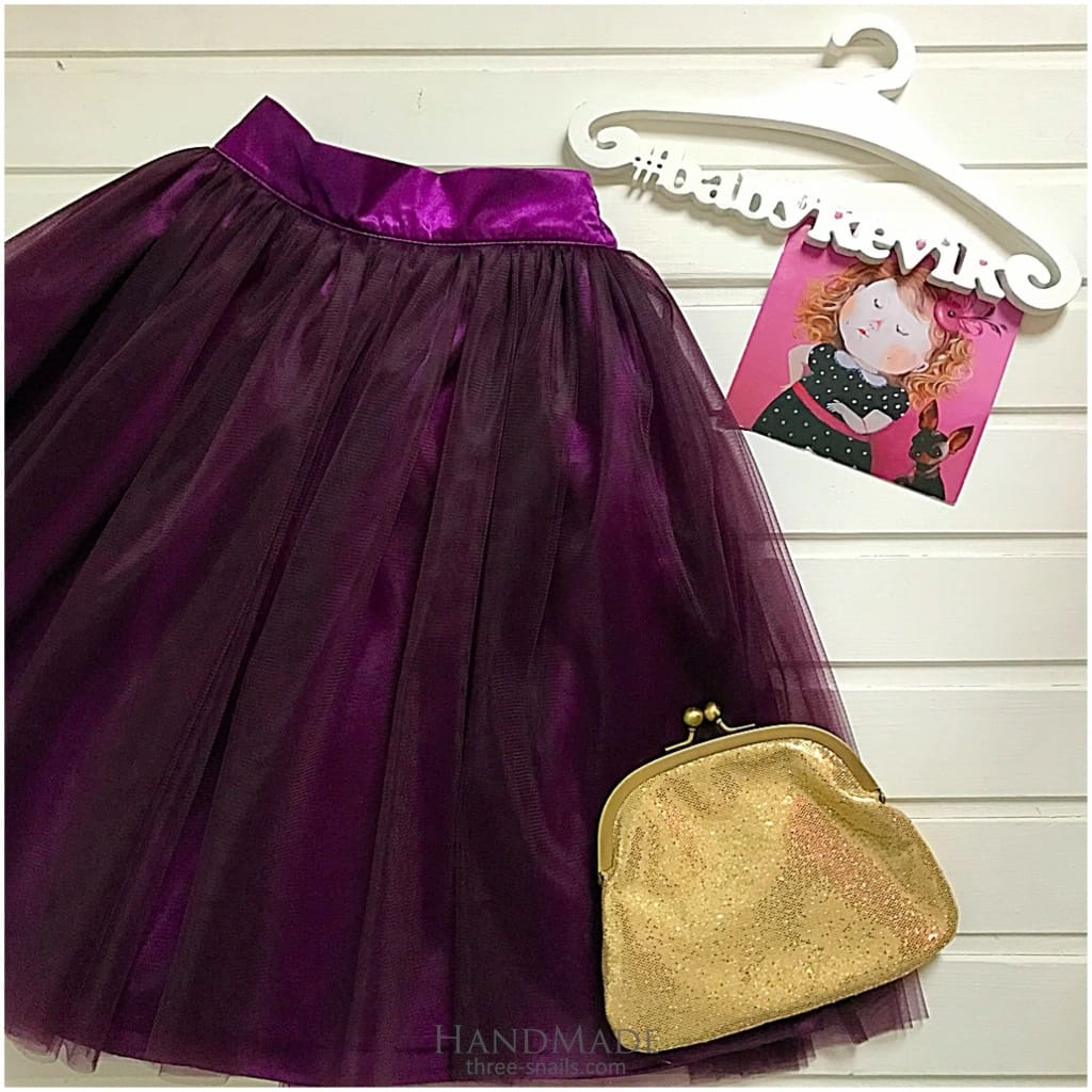 Girls Tutu Skirt - 3 - 6 Mnth (H-68 Cm) / Violet / Us - Baby Clothes