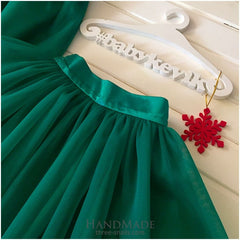 Girls Tutu Skirt - 3 - 6 Mnth (H-68 Cm) / Green / Us - Baby Clothes