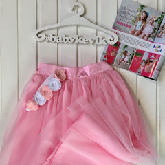 Girls Tutu Skirt - 3 - 6 Mnth (H-68 Cm) / Pink / Us - Baby Clothes