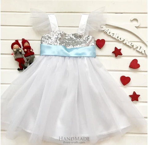 Girls White Tulle Dress - Baby Clothes