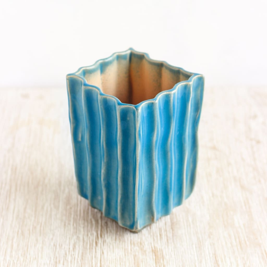Giveaway - Blue Texture Pot For Cactus Blue Caramel - Plant Pot
