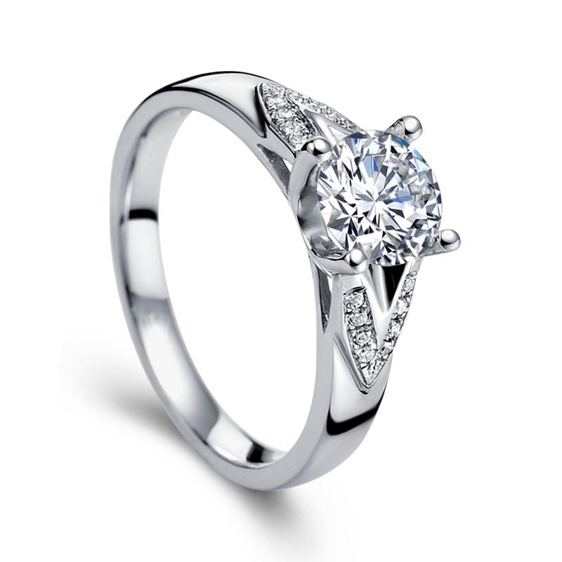White gold diamond engagement ring - 1