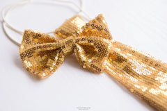 Gold Bow Tie - Baby Clothes