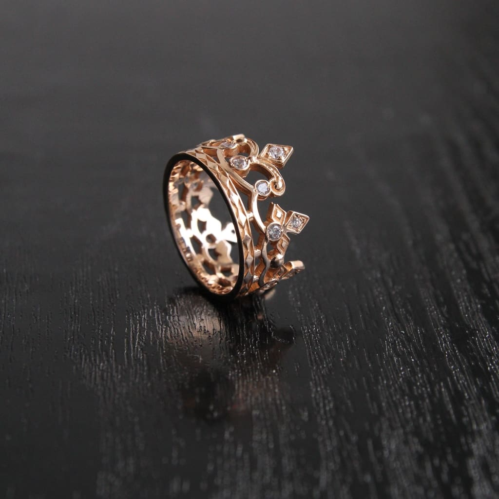 Gold Crown Ring For Her - Popovichenko