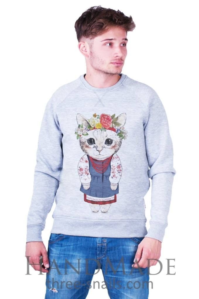 Grey Man Sweatshirt «Kitten» - Vasylchenko1