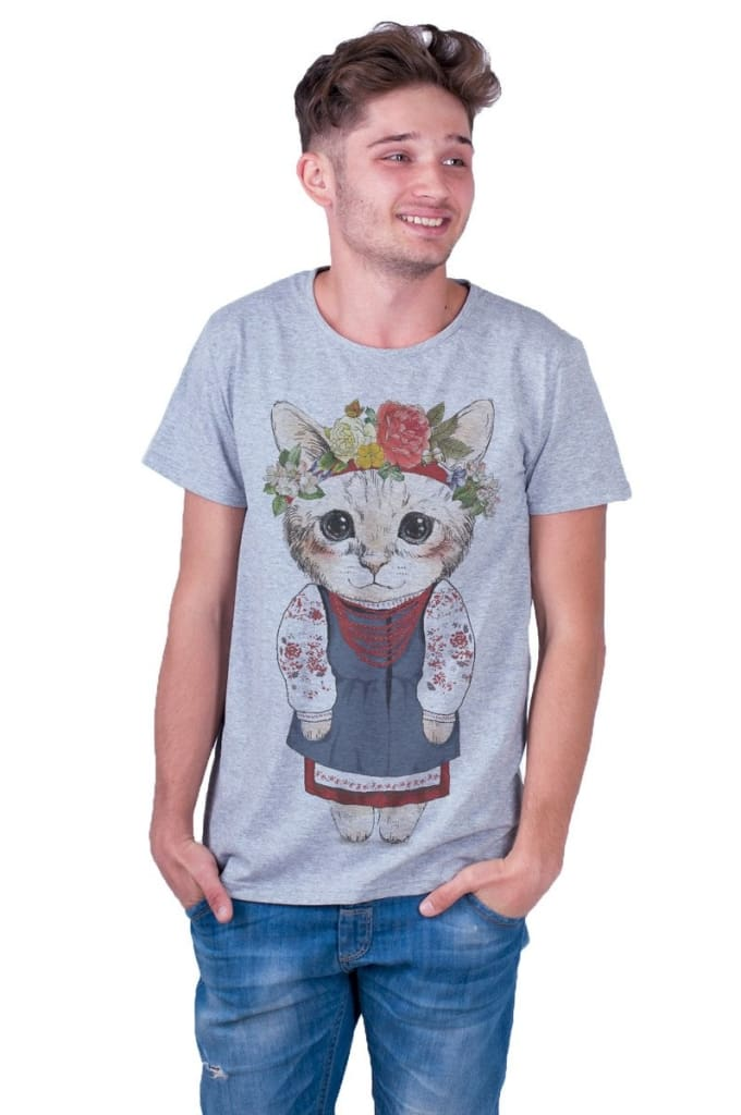 Grey Man T-Shirt «Kitten» - Melnichenko1