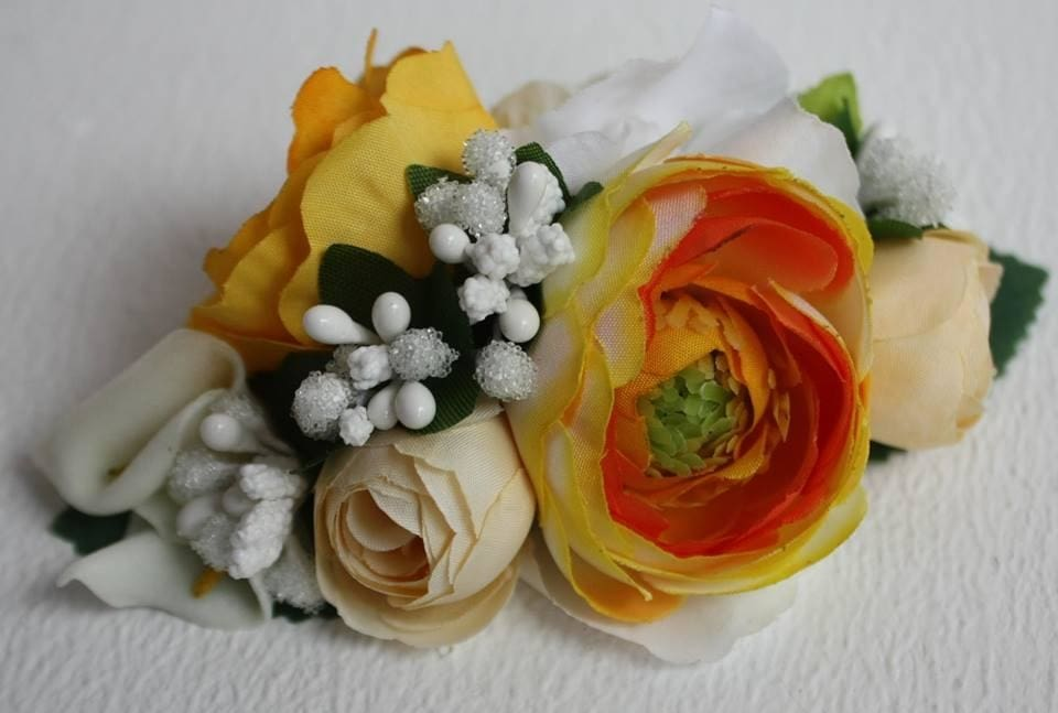 "Hair clips ""Yellow flowers"" - 1"