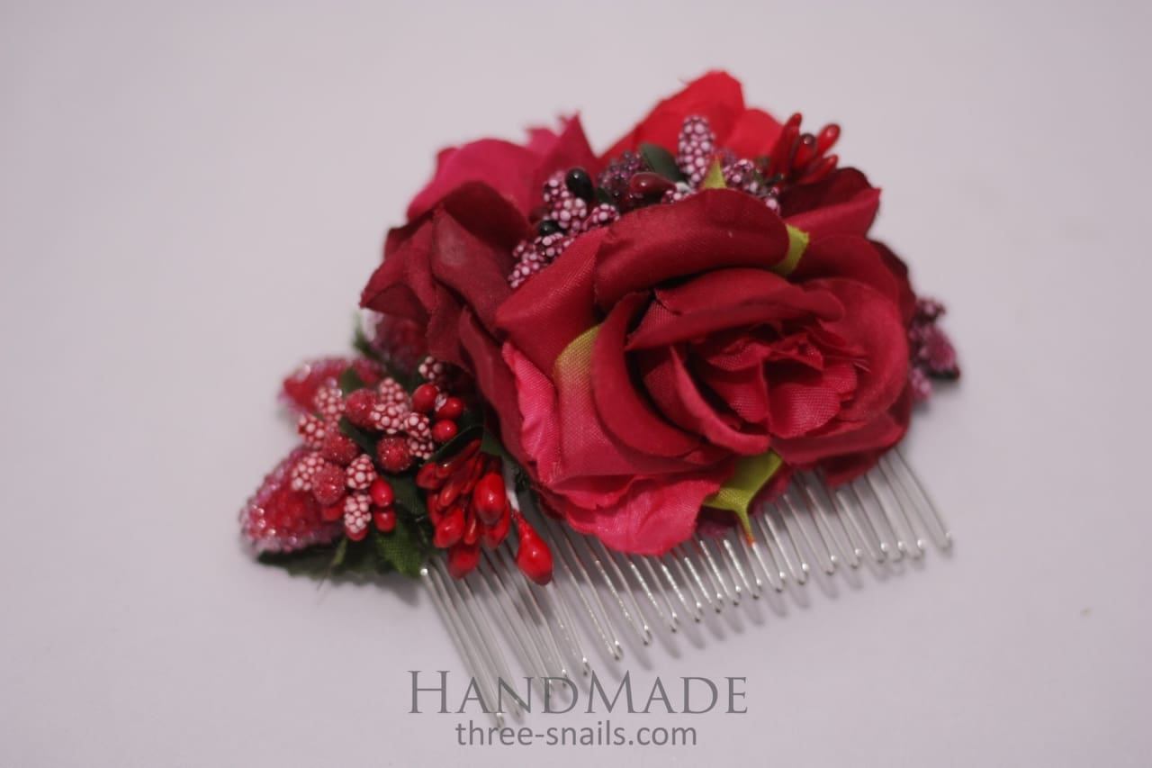 "Hair comb ""Passionate night"" - 1"