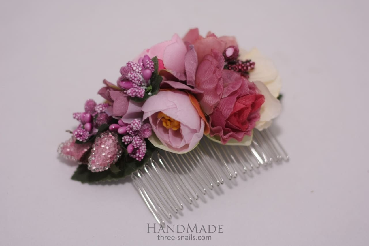 Hair Combs Soft-Pink Fancy - Melnichenko1