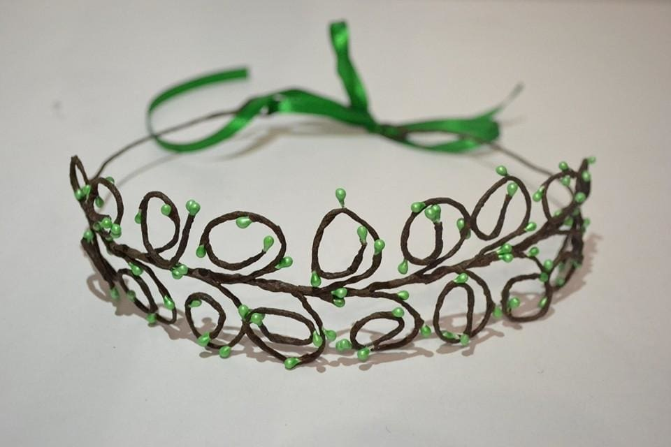 Hair Jewelry. Hair Band Green Fresh - Melnichenko1