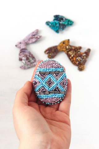 Handcrafted Brooch Easter Egg - Vasylchenko1