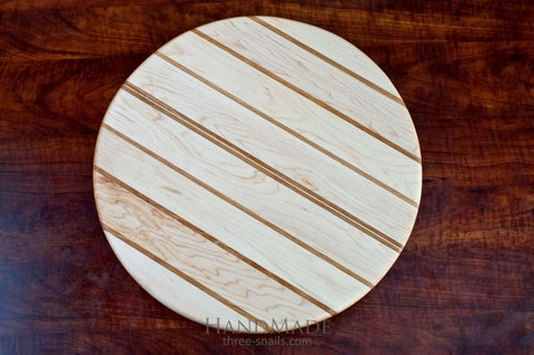 Handcrafted Carved Round Board - Cutting Board