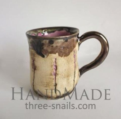 Handcrafted Ceramic Lavender Cup Romance - Cup And Mug