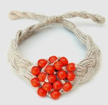 "Handcrafted Fashion Necklace ""Red Ashberry"" - 1"
