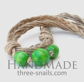 Handcrafted Jute Necklace Gooseberry - Melnichenko1