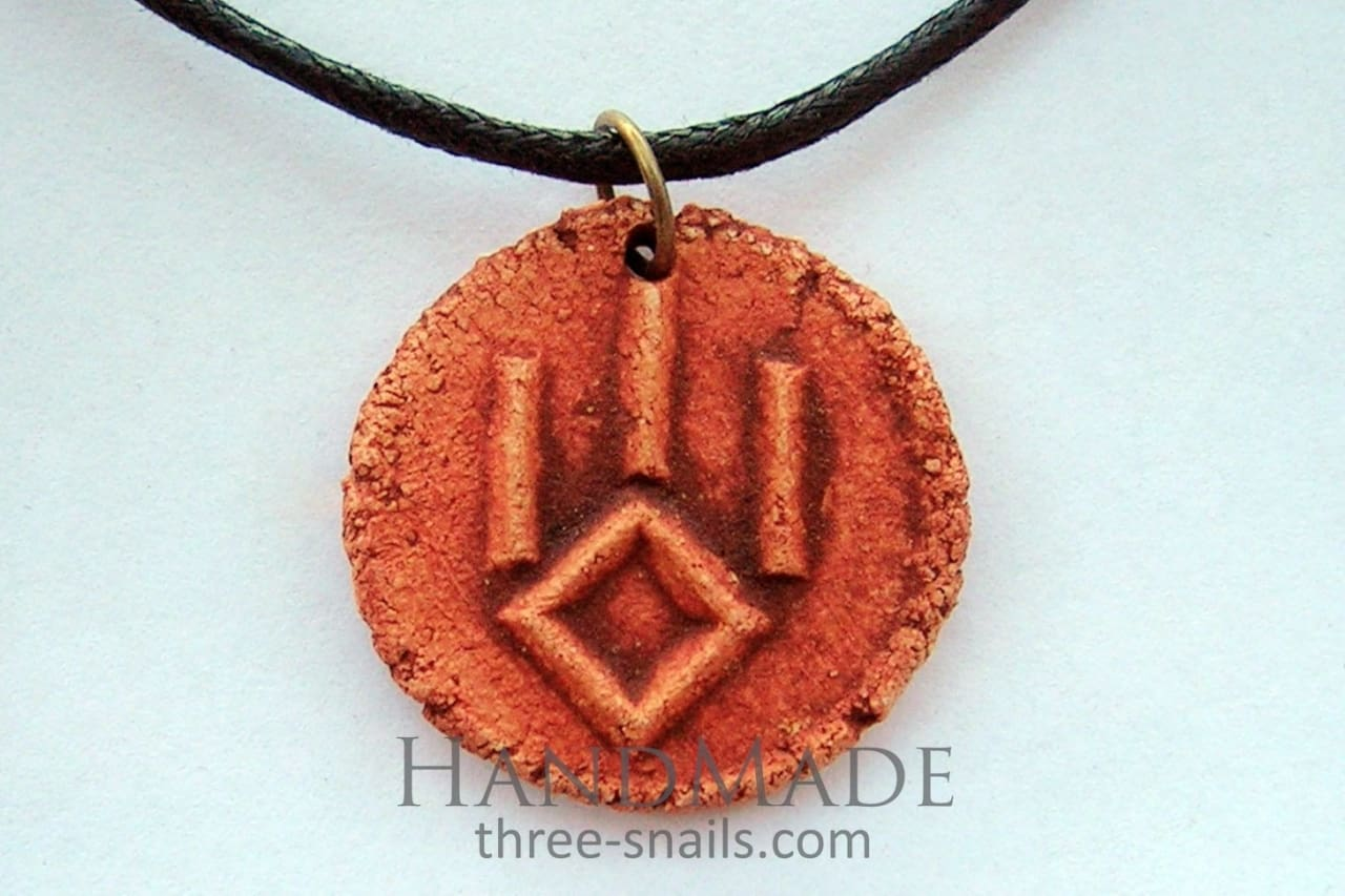 Handcrafted Pendant Talisman «The Symbol Of A Wolf» - Melnichenko1