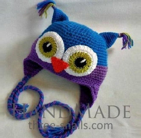 Handmade Children Hat Owl - Baby Clothes