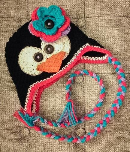Handmade Crochet Hat Penguin - Baby Clothes