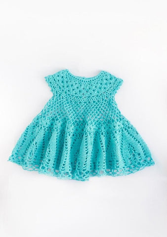 Handmade Crocheted Dress Cloudlet - Baby Clothes