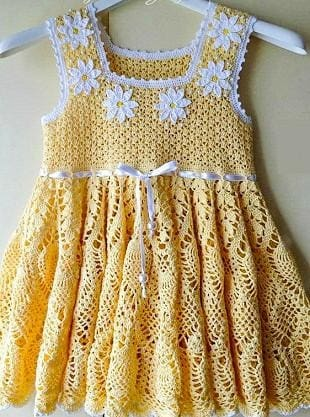 "Handmade crocheted dress ""Daisy"" - 1"