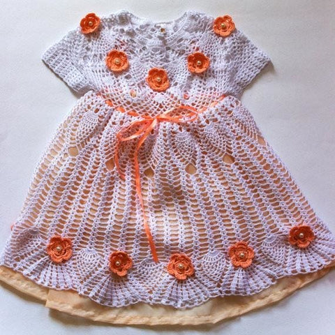 Handmade Crocheted Dress Princess - Baby Clothes