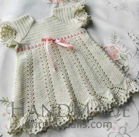 Handmade Crocheted Dress Tenderness - Baby Clothes