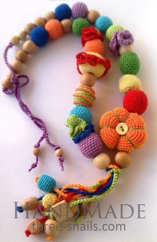 Handmade Sling Beads Bright Day - Toy