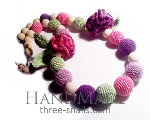 Handmade Sling Beads Carnations - Toy