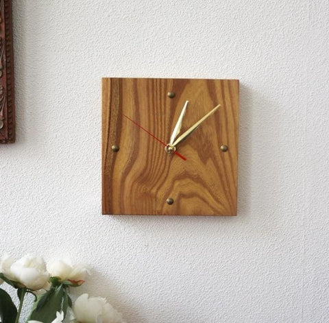 Handmade Wood Wall Clock Rendezvous - Clock