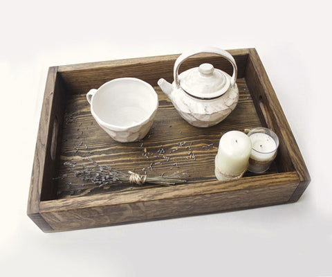 Handmade Wooden Tray Care - Tray