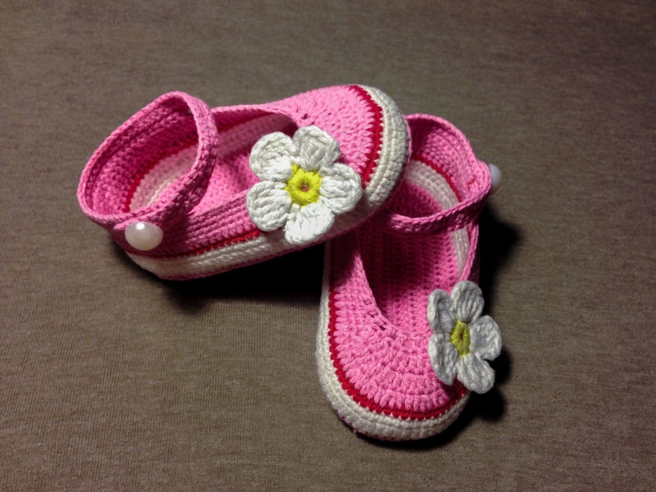 "Handmame baby bootees ""Pink dream"" - 1"