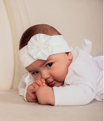 Headband For Baby Girls Baptism Day - Baby Clothes