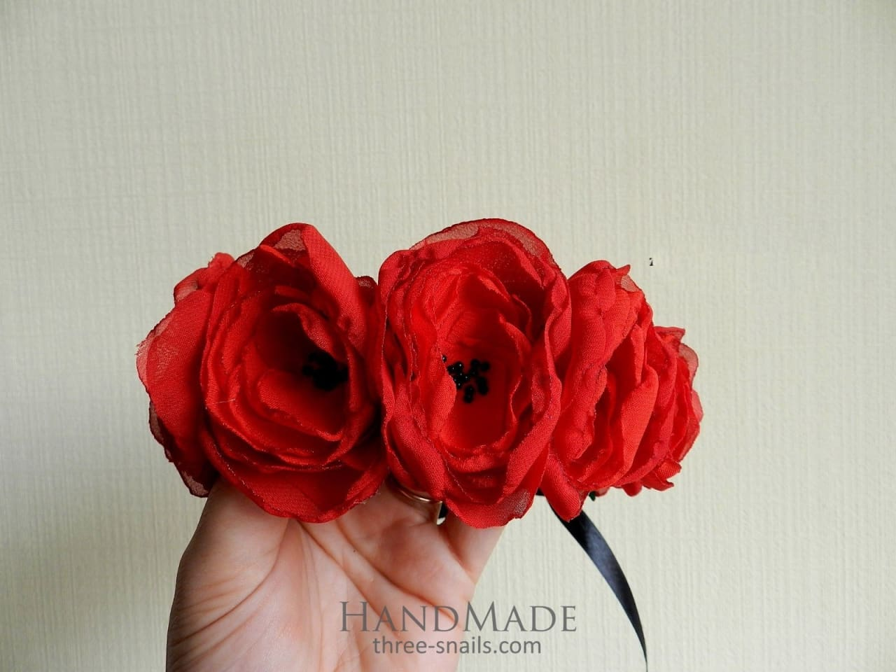 Handmade Flower Headbands For Women Three Snails Handmade Shop Online