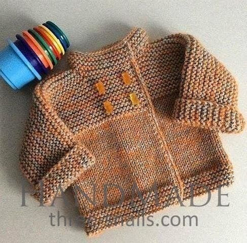 Infant Knitted Cardigan - Baby Clothes