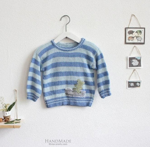 Infant Sweatshirts Blue Stripes - Baby Clothes