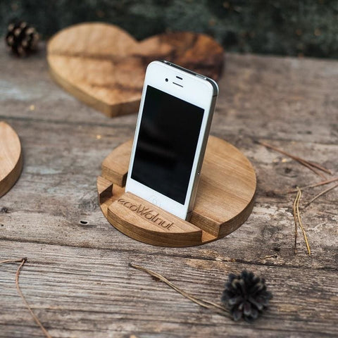 Iphone And Tablet Wood Stand Circle - Vasylchenko1