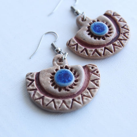 Jewelry Earrings Ethnic Half-Circle - Melnichenko1