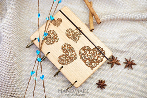 Journal Notebooks Hearts - Vasylchenko1