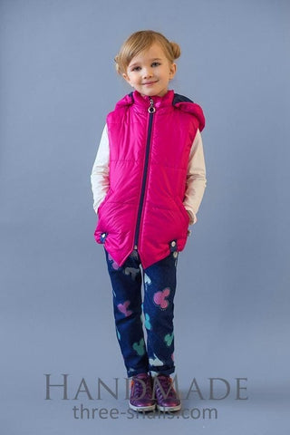 Kid Girl Hooded Vest - Baby Clothes