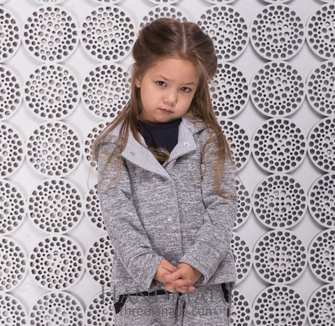 Kids Grey Hooded Jacket - Baby Clothes