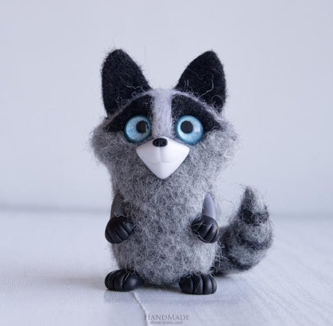 Kids Handmade Toy Racoon - Doll